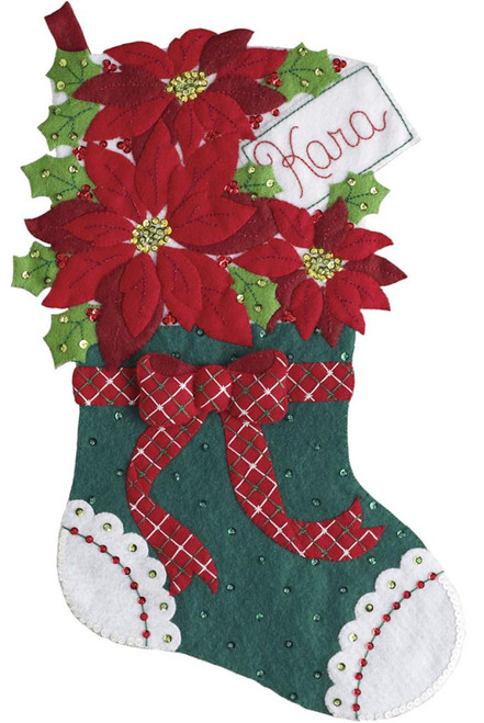 Plaid / Bucilla - Christmas Poinsettia