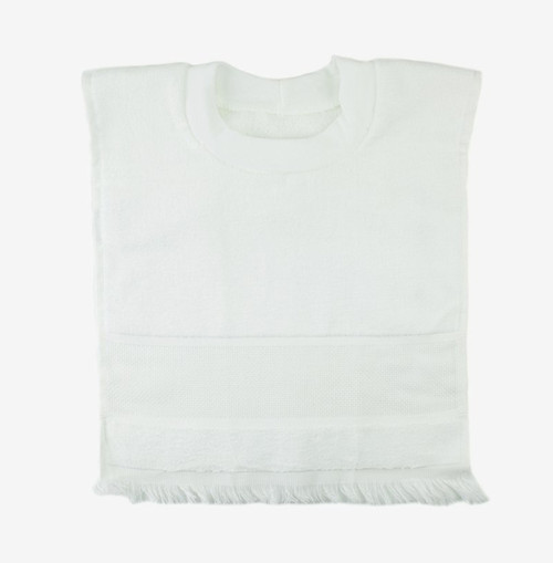 DMC Stitchable 14 count White Pullover  Velour Baby Bib