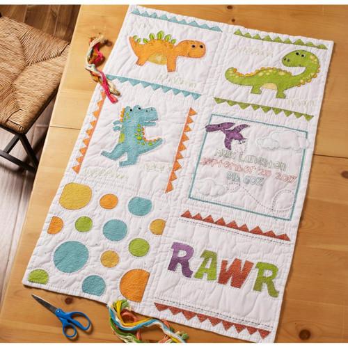 Plaid Bucilla - Dino Baby Quilt Blocks
