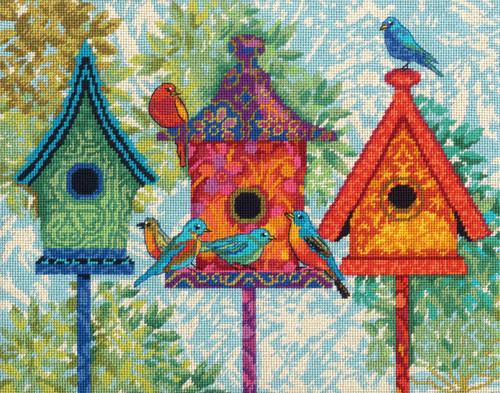 Dimensions - Colorful Birdhouses