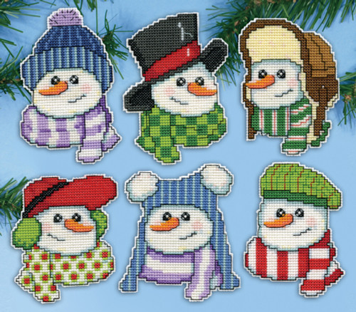 Design Works - Snowmen in Hats Ornaments