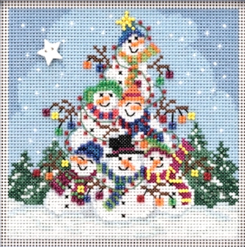 2019 Mill Hill Buttons & Beads Winter Series - Snowman Pile