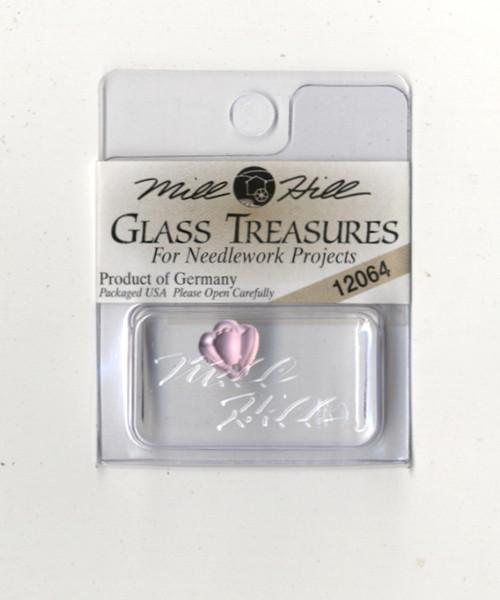Mill Hill Glass Treasures - Flat Bell Flower Amethyst #12064