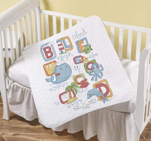 Plaid / Bucilla - Sea Life Crib Cover
