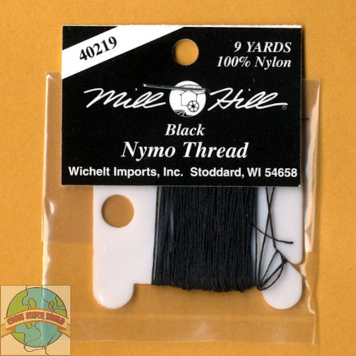 Mill Hill 9 Yards of Black Nymo Thread