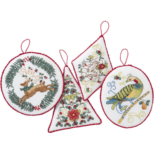 Plaid / Bucilla - Holiday Blooms Christmas Ornaments