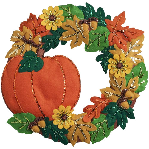 Plaid / Bucilla - Fall Wreath