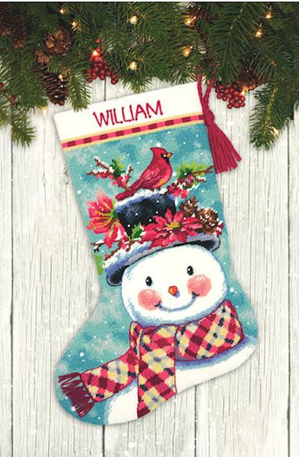 Dimensions - Seasonal Snowman Stocking
