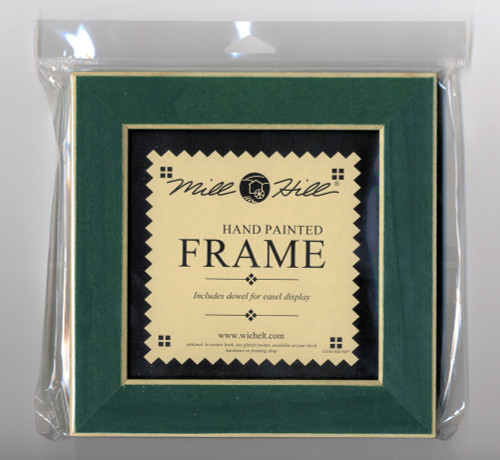 "Mill Hill - 6"" x 6"" Matte Green Hand Painted Frame"