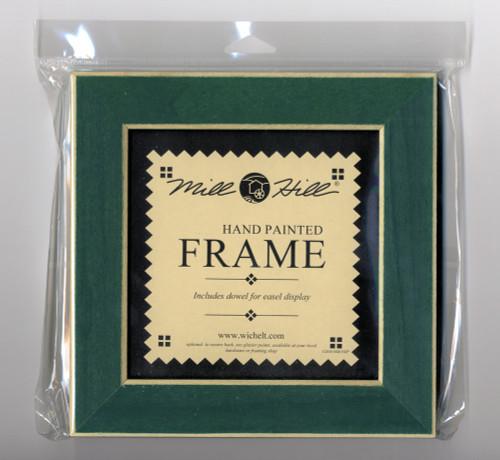 "Mill Hill - 8"" x 8"" Matte Green Hand Painted Frame"