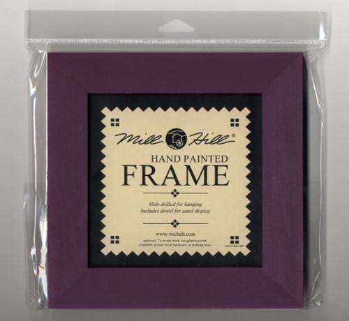 "Mill Hill - 8"" x 8"" Purple Iris Hand Painted Frame"