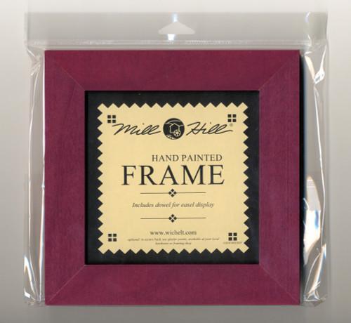 """Mill Hill - 6"""" x 6"""" Matte Plum Hand Painted Frame"""