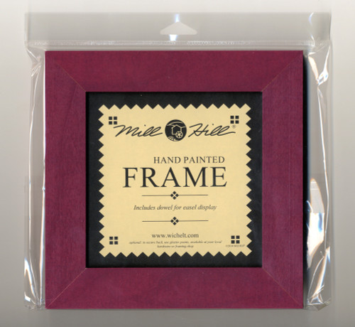 "Mill Hill - 8"" x 8"" Matte Plum Hand Painted Frame"