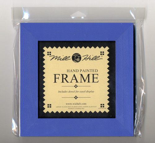 """Mill Hill - 8"""" x 8"""" Matte Periwinkle Hand Painted Frame"""