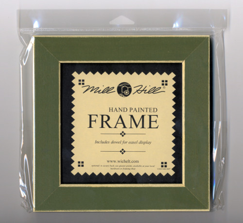 """Mill Hill - 6"""" x 6"""" Olive Hand Painted Frame"""