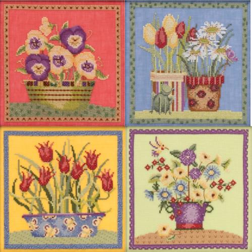 2019 Mill Hill Debbie Mumm Blooms & Blossoms Series (Set of 4 Kits)