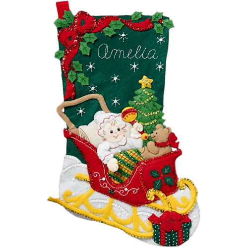 Plaid / Bucilla - Christmas Baby Stocking