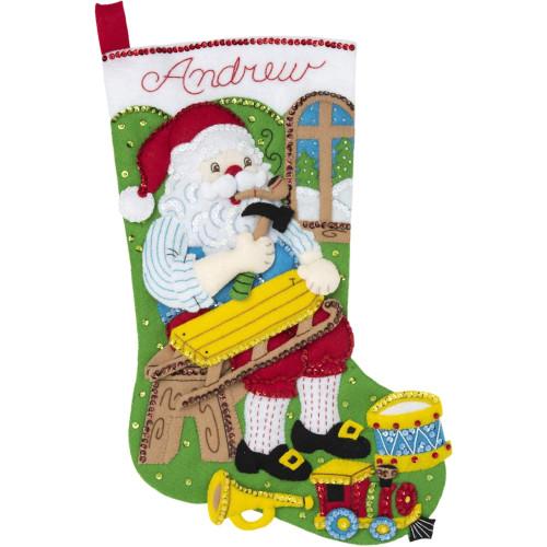 Plaid / Bucilla - Woodworking Santa Stocking
