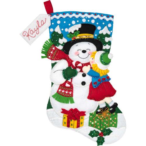 Plaid / Bucilla - Snowman Kisses Stocking