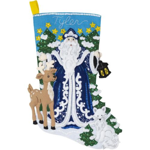 Plaid / Bucilla - Winter Santa Stocking