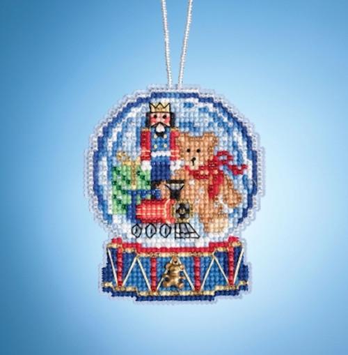 Mill Hill 2019 Snow Globe Charmed Ornament - Toy Shop Globe