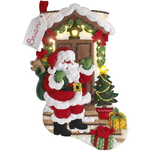 Plaid / Bucilla -  Santa is Here Stocking