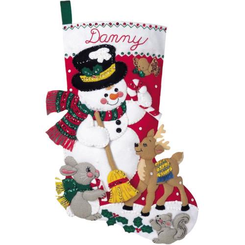 Plaid / Bucilla - Snowman & Friends Stocking