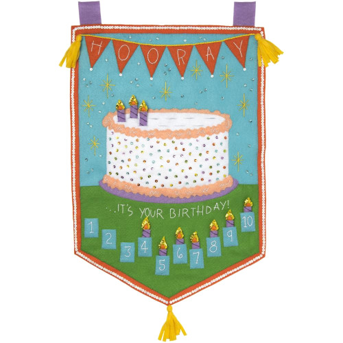 Plaid / Bucilla -  Birthday Countdown Wall Hanging