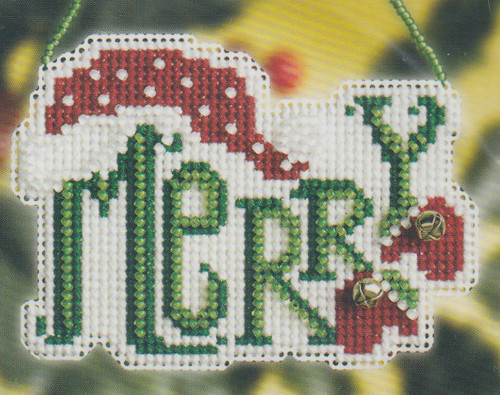 Mill Hill 2008 Winter Greetings Charmed Ornament - Merry