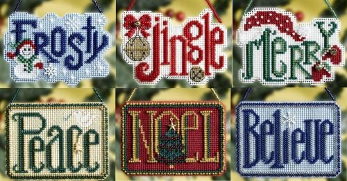 2008 Mill Hill Winter Greetings Charmed Ornament Set (6 Kits)