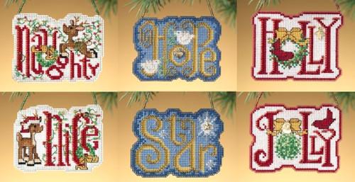 Mill Hill 2009 Winter Greetings Charmed Ornament Set (6 Kits)
