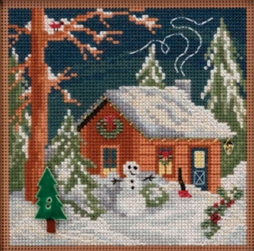 2018 Mill Hill Buttons &  Beads Winter Series - Christmas Cabin