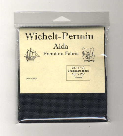 Wichelt - 14 Ct Chalkboard Black Aida 18 x 25 in
