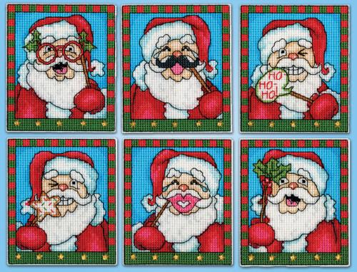Design Works - Selfie Santas Ornaments