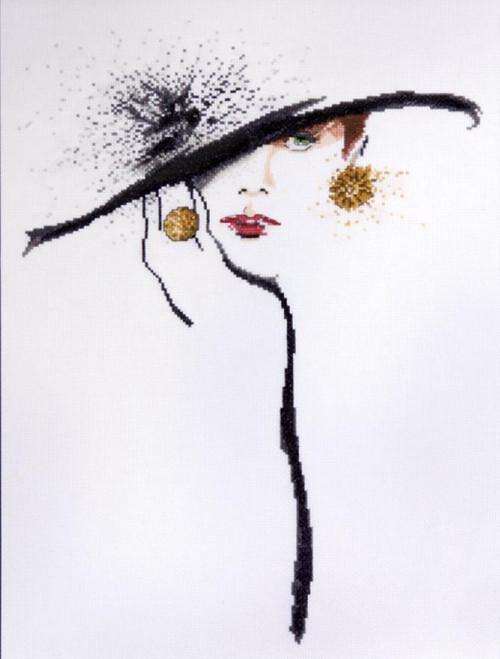 Design Works - Black Hat (Green Eyes)