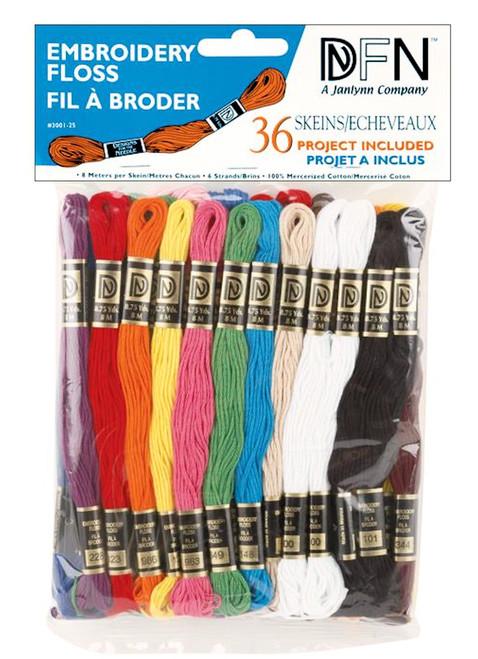 Janlynn / DFN - 36 Skeins of Primary Colors Embroidery Floss