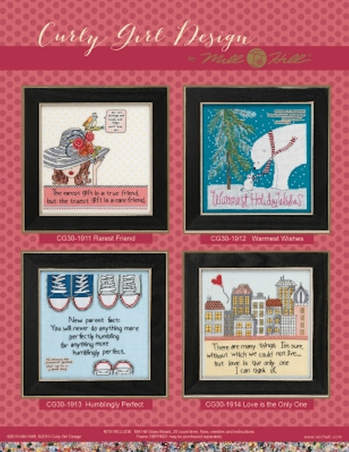 2019 Mill Hill Curly Girl Design Series (Set of 4 Kits)