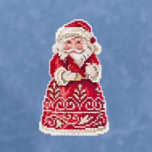 Mill Hill 2019 Jim Shore Winter Series - Santa with Cardinal