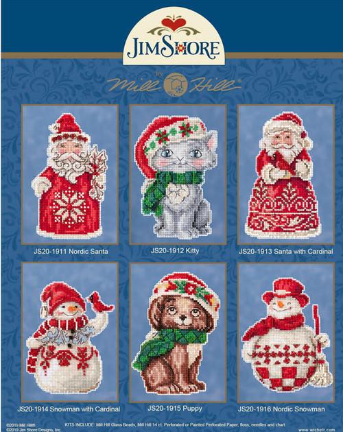 2019 Mill Hill Jim Shore Winter Series (Set of 6 Kits)