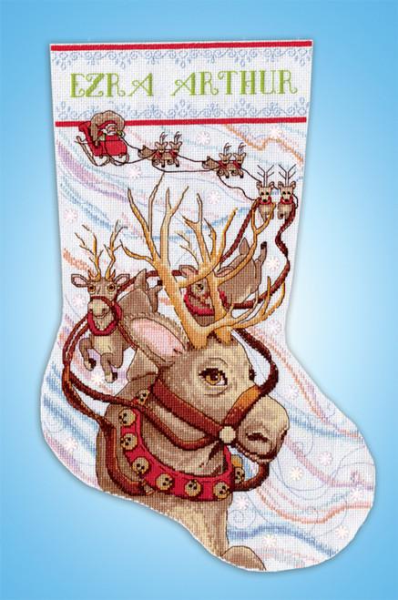 Design Works - Reindeer Ride Stocking