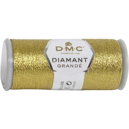 DMC - 21.8 Yard Spool of Dark Gold Diamant Grande Metallic Thread #G3852
