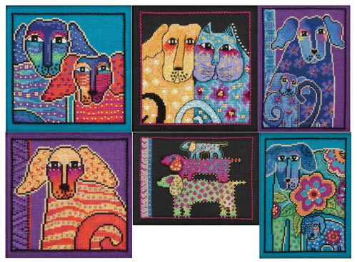 Mill Hill / Laurel Burch Dogs Series (Set of 6 LINEN Kits)