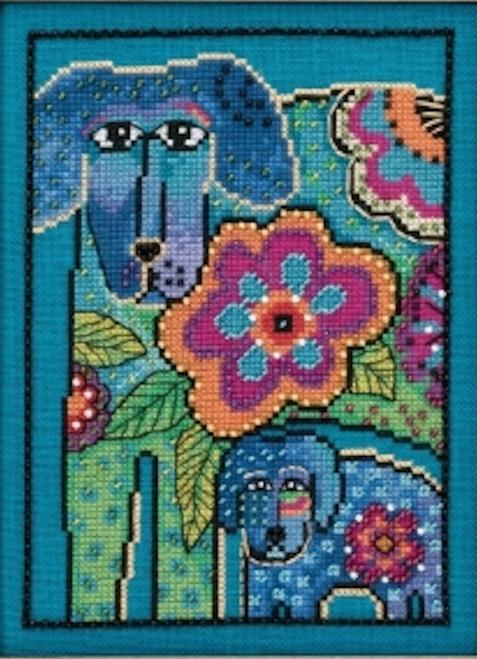 Mill Hill / Laurel Burch - Petunia and Rose (AIDA)