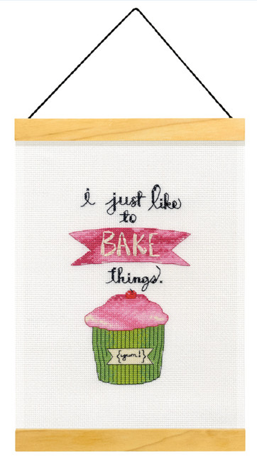 Dimensions - I Just Like to Bake Things Wood Banner