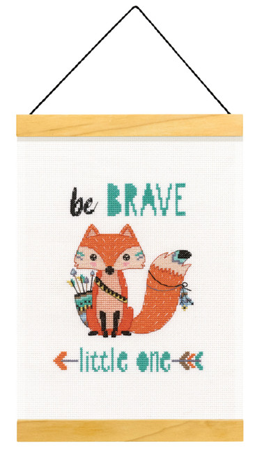 Dimensions - Be Brave Wood Banner