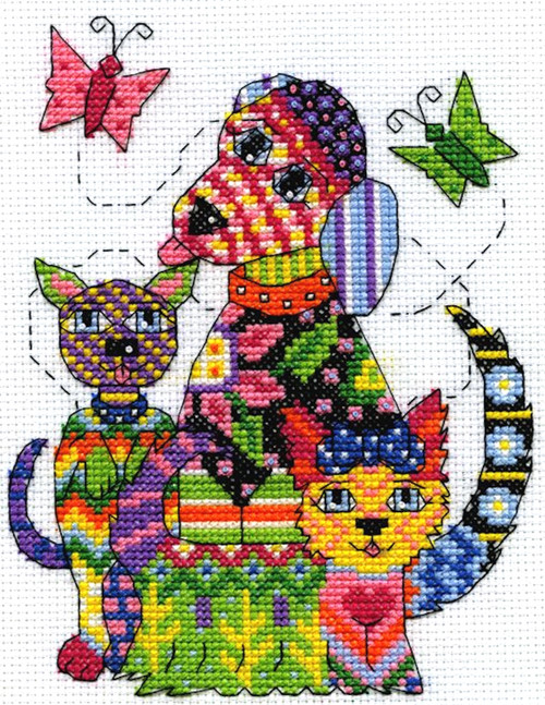 Design Works - Colorful Patchwork Dogs