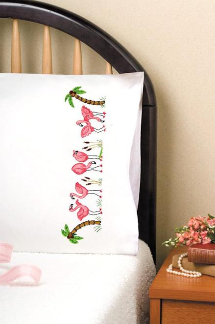 Design Works - Flamingos Pillowcase Pair