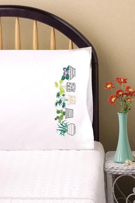 Design Works - House Plants Pillowcase Pair