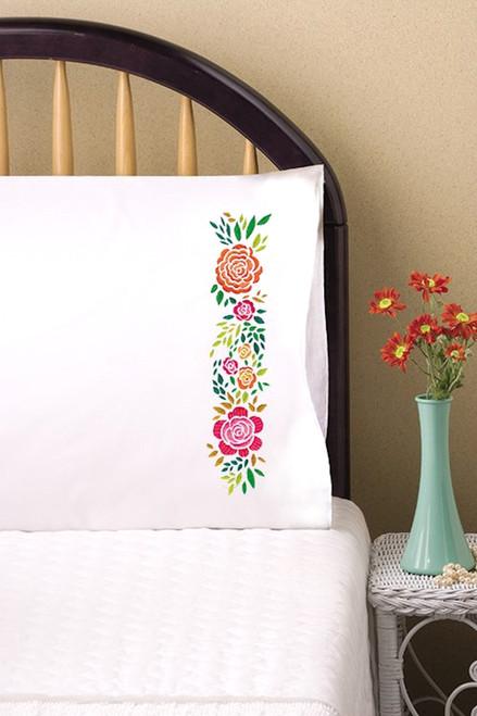 Design Works - Rosey Posey Pillowcase Pair