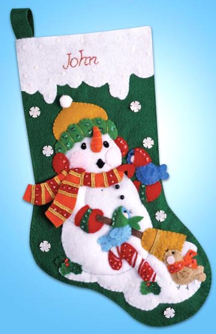 Design Works - Snowman with Birds Stocking